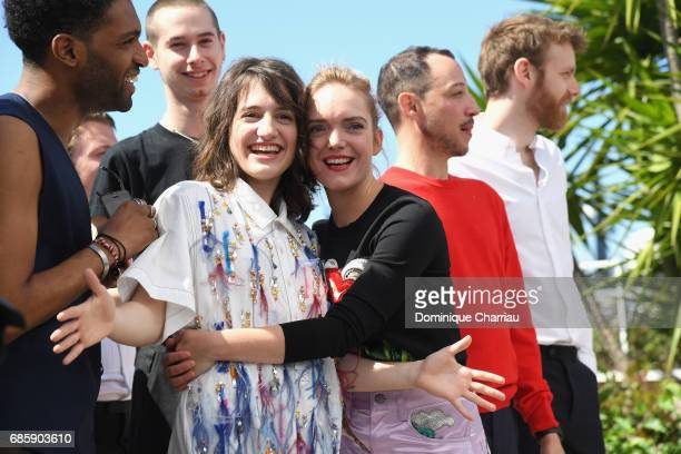 Actress Aloise Sauvage attends the '120 Beats Per Minute ' photocall during the 70th annual Cannes Film Festival at Palais des Festivals on May 20...