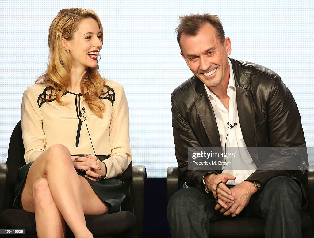 Actress Alona Tal (L) and actor Robert Knepper of the television show 'Cult' speak during the CW Network portion of the 2013 Winter Television Critics Association Press Tour at the Langham Huntington Hotel & Spa on January 13, 2013 in Pasadena, California.