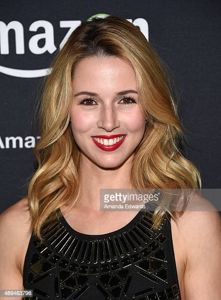 Actress Alona Tal arrives at Amazon Video's 67th Primetime Emmy Celebration at The Standard Hotel on September 20 2015 in Los Angeles California