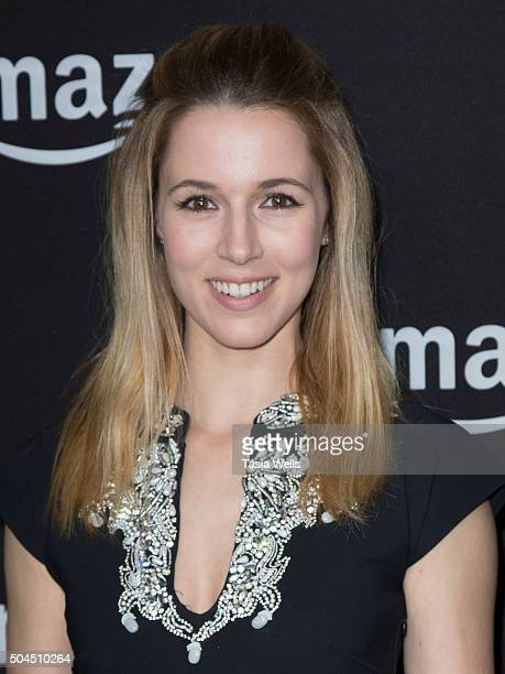 Actress Alona Tal arrives at the Amazon Studios Golden Globes party at The Beverly Hilton Hotel on January 10 2016 in Beverly Hills California