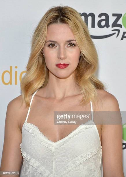 Actress Alona Tal attends the 'Hand Of God' panel discussion at the Amazon Studios portion of the 2015 Summer TCA Tour on August 3 2015 in Beverly...