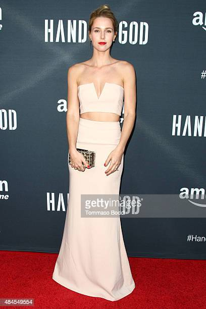 Actress Alona Tal attends the premiere of Amazon's series 'Hand Of God' held at the Ace Theater Downtown LA on August 19 2015 in Los Angeles...