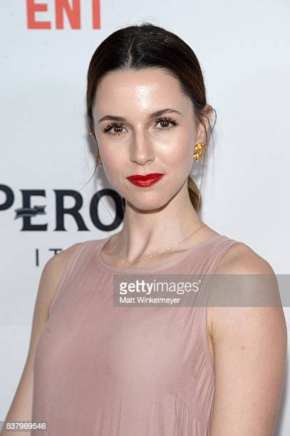 Actress Alona Tal attends the premiere of 'Opening Night' during the 2016 Los Angeles Film Festival at Arclight Cinemas Culver City on June 3 2016 in...