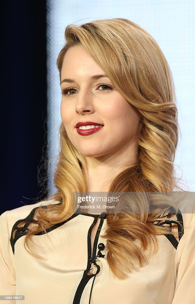 Actress Alona Tal of the television show 'Cult' speaks during the CW Network portion of the 2013 Winter Television Critics Association Press Tour at the Langham Huntington Hotel & Spa on January 13, 2013 in Pasadena, California.