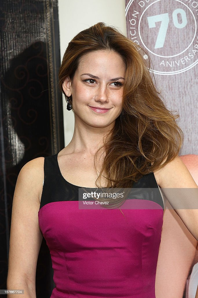Actress Altair Jarabo attends a press conference and photocall to promote her Open magazine december issue cover at Meet In Polanco on December 5, 2012 in Mexico City, Mexico.