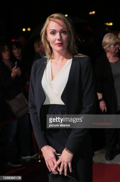 Actress Alwara Hoefels attends the conferral of the Hessian Film Award 2014 and wins the Hessian Award for Best Actress in the Old Opera in...