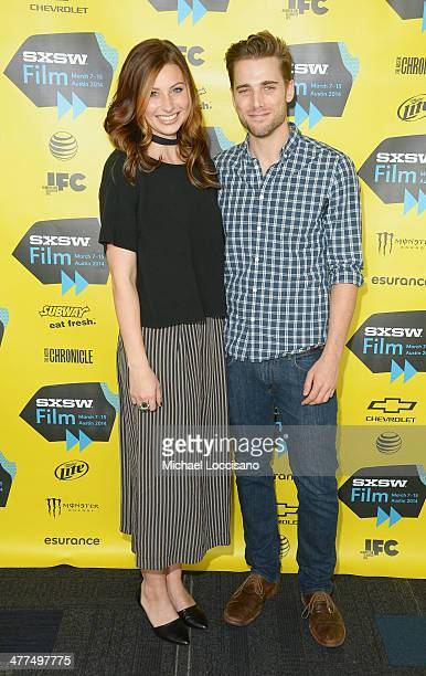 Actress Aly Michalka and actor Dustin Milligan attend the Sequoia premiere during the 2014 SXSW Music Film Interactive Festival at the Topfer Theatre...