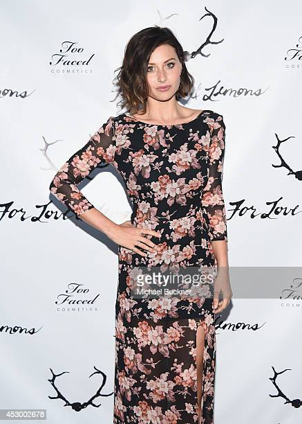 Actress Aly Michalka attends For Love and Lemons annual SKIVVIES party cohosted by Too Faced and performance by The Shoe at The Carondelet House on...