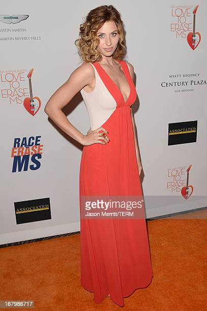 """Actress Aly Michalka attends the 20th Annual Race To Erase MS Gala """"Love To Erase MS"""" at the Hyatt Regency Century Plaza on May 3, 2013 in Century..."""