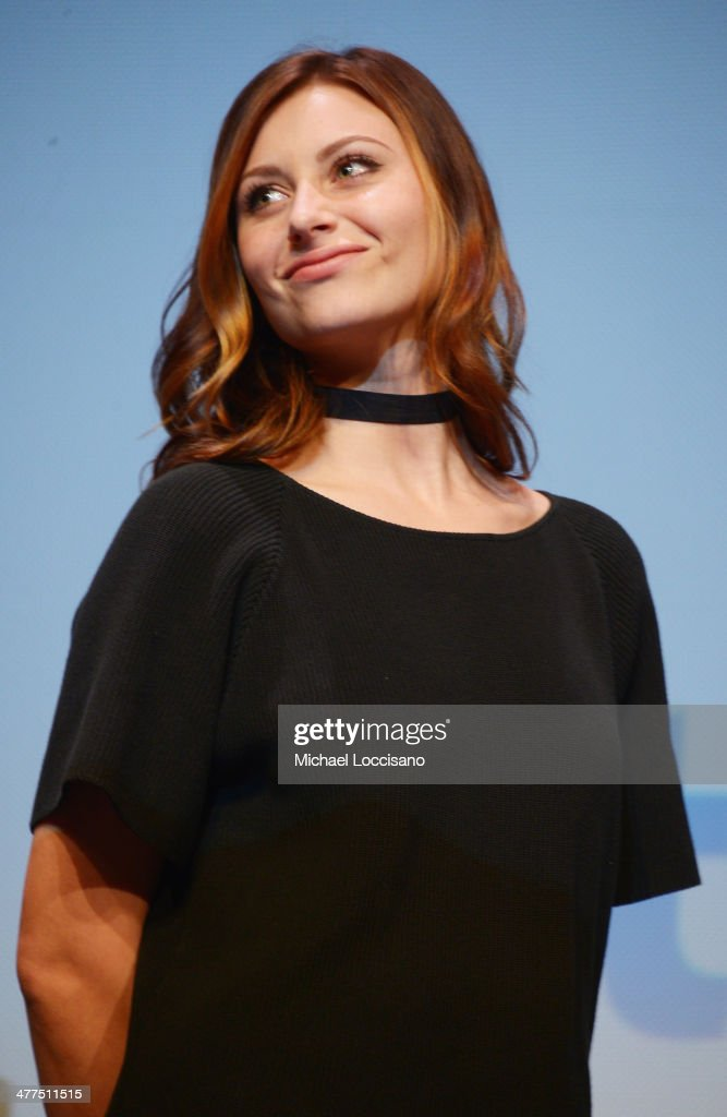 Actress Aly Michalka takes part in a Q&A following the 'Sequoia' premiere during the 2014 SXSW Music, Film + Interactive Festival at the Topfer Theatre at ZACH on March 9, 2014 in Austin, Texas.