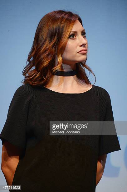 Actress Aly Michalka takes part in a QA following the Sequoia premiere during the 2014 SXSW Music Film Interactive Festival at the Topfer Theatre at...