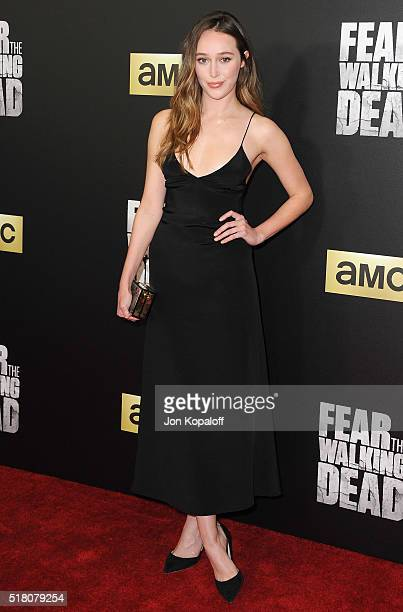Actress Alycia Debnam Carey arrives at the premiere Of AMC's 'Fear The Walking Dead' Season 2 at Cinemark Playa Vista on March 29 2016 in Los Angeles...