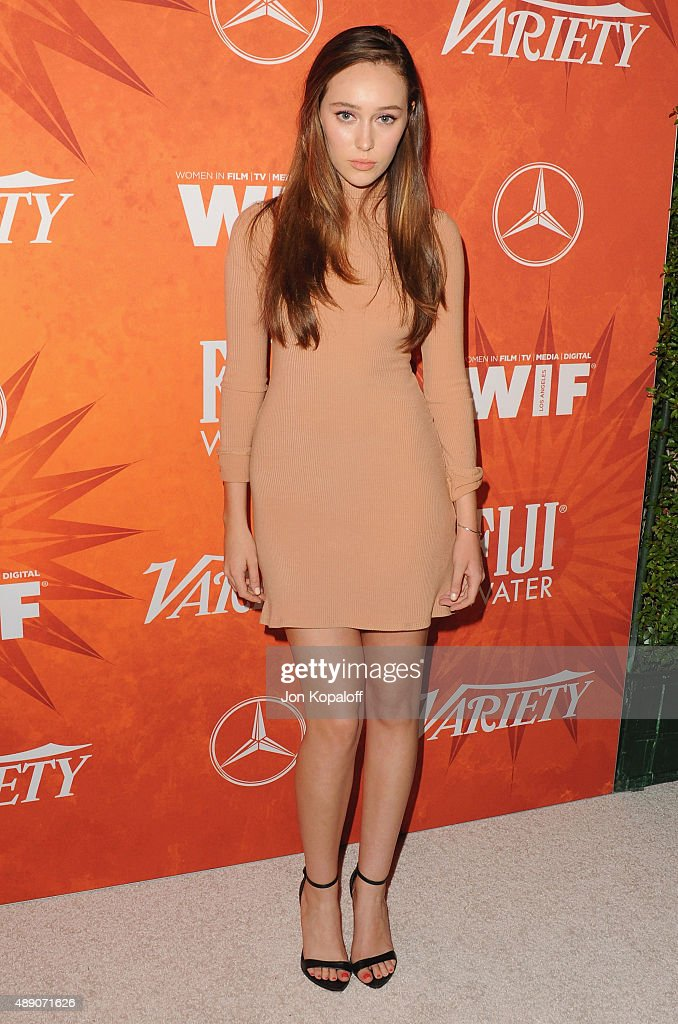 Actress Alycia Debnam Carey arrives at the Variety And Women In Film Annual Pre-Emmy Celebration at Gracias Madre on September 18, 2015 in West Hollywood, California.