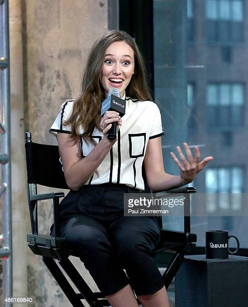 Actress Alycia DebnamCarey attends AOL Build Speaker Presents Alycia DebnamCarey 'Fear The Walking Dead' at AOL Studios New York City on September1...