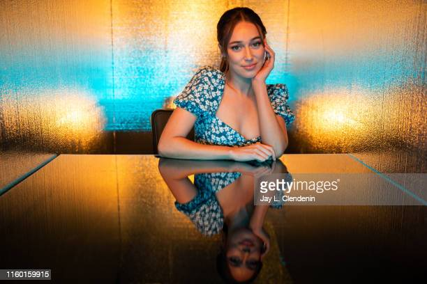 Actress Alycia DebnamCarey of 'Fear the Walking Dead' is photographed for Los Angeles Times at ComicCon International on July 19 2019 in San Diego...