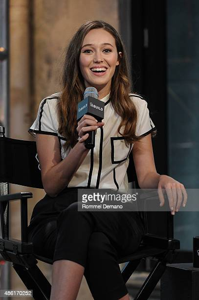 Actress Alycia DebnamCarey speaks at AOL Build Speaker Series Presents Alycia DebnamCarey 'Fear The Walking Dead at AOL Studios In New York on...