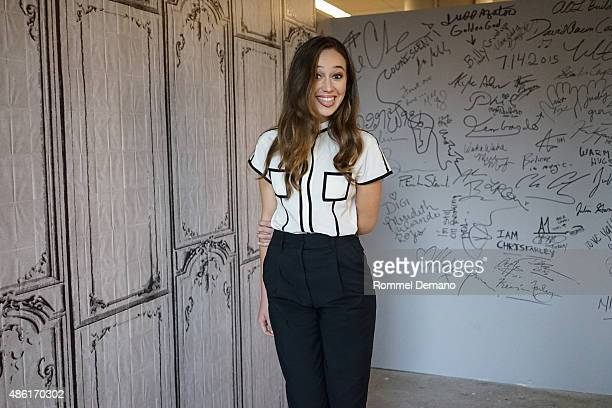Actress Alycia DebnamCarey speaks at AOL Build Speaker Series Presents Alycia DebnamCarey 'Fear The Walking Dead at AOL Studios In New York on...