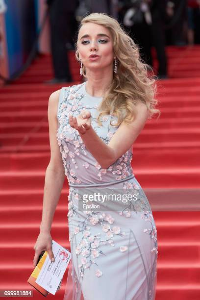 Actress Alyona Chekhova attends opening of the 39th Moscow International Film Festival outside the Karo 11 Oktyabr Cinema on June 22 2017 in Moscow...