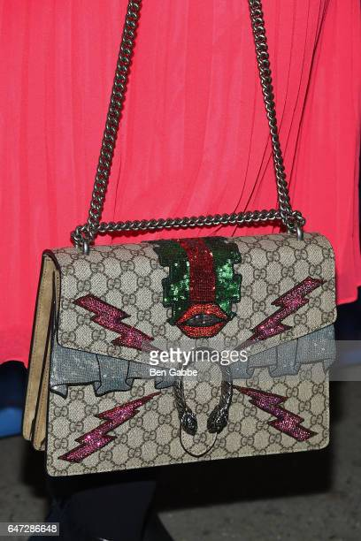 Actress Alysha Umphress Gucci bag detail at the 'Significant Other' Opening Night Premiere at Booth Theatre on March 2 2017 in New York City