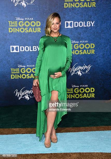 "Actress Alyshia Ochse arrives at the premiere of Disney-Pixar's ""The Good Dinosaur"" on November 17, 2015 in Hollywood, California."