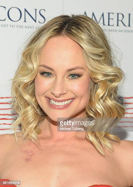 """Actress Alyshia Ochse attends a screening of the film """"Americons"""" at ArcLight Cinemas on January 22, 2015 in Hollywood, California."""