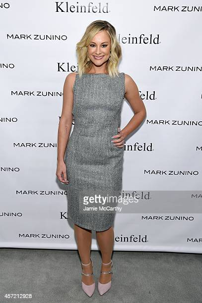 Actress Alyshia Ochse attends front row at The Mark Zunino For Kleinfeld 2015 Runway Show at Kleinfeld on October 14, 2014 in New York City.