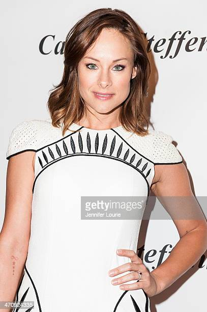 Actress Alyshia Ochse attends Genlux Magazine's celebration of their new issue featuring Katheryn Winnick of Vikings at the Luxe Hotel on February...