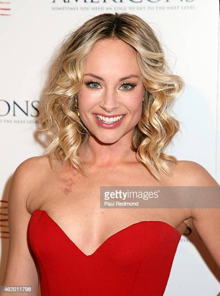 """Actress Alyshia Ochse attends Los Angeles screening of """"Americons"""" at ArcLight Cinemas on January 22, 2015 in Hollywood, California."""
