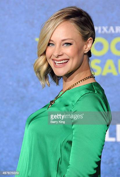 Actress Alyshia Ochse attends the Premiere of Disney-Pixar's 'The Good Dinosaur' at the El Capitan Theatre on November 17, 2015 in Hollywood,...
