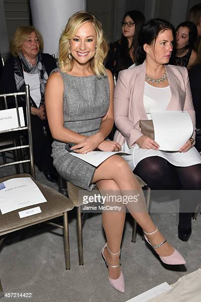 Actress Alyshia Ochse sits front row at The Mark Zunino For Kleinfeld 2015 Runway Show at Kleinfeld on October 14 2014 in New York City