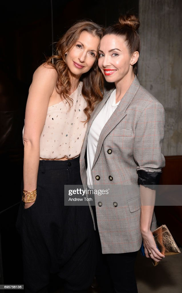 Actress Alysia Reiner and Comedian, WIC Performer Whitney Cummings attend as ELLE hosts Women In Comedy event with July Cover Star Kate McKinnon at Public Arts on June 13, 2017 in New York City.