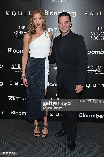 Actress Alysia Reiner and David Alan Basche attend a screening of Sony Pictures Classics' Equity hosted by The Cinema Society with Bloomberg and...