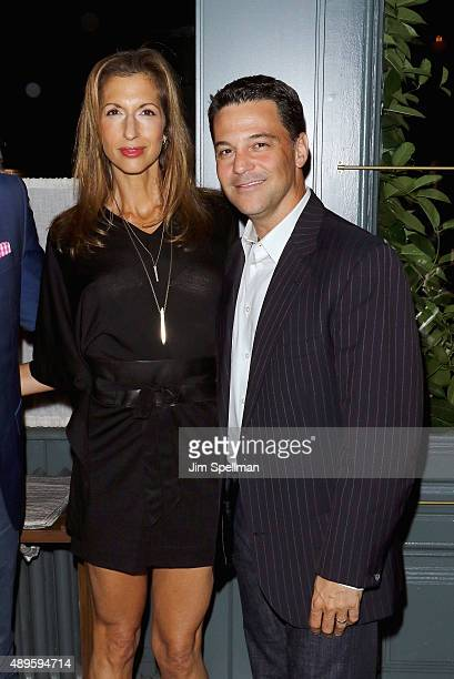 Actress Alysia Reiner and husband actor David Alan Basche attend the after party for The Cinema Society and Ruffino host screening of Warner Bros...