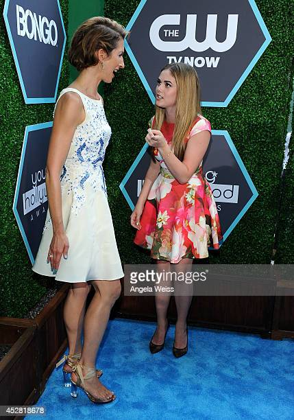 Actress Alysia Reiner and McKaley Miller attend the 2014 Young Hollywood Awards brought to you by Samsung Galaxy at The Wiltern on July 27 2014 in...
