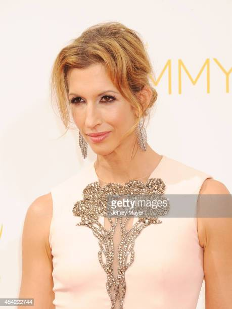 Actress Alysia Reiner arrives at the 66th Annual Primetime Emmy Awards at Nokia Theatre LA Live on August 25 2014 in Los Angeles California