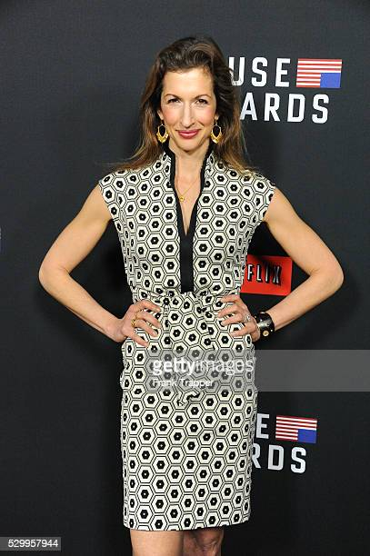 """Actress Alysia Reiner arrives at the special screening of Netflix's """"House of Cards"""" Season 2 held at the Directors Guild of America."""