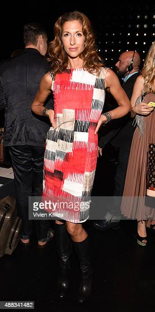 Actress Alysia Reiner attends Carmen Marc Valvo Women's and Men's Collection S/S 2016 during New York Fashion Week The Shows at The Arc Skylight at...