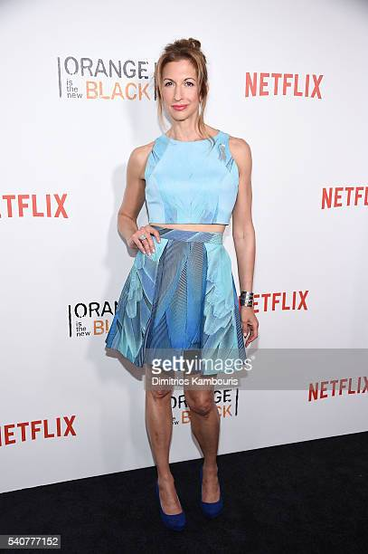Actress Alysia Reiner attends 'Orange Is The New Black' premiere at SVA Theater on June 16 2016 in New York City