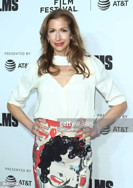 Actress Alysia Reiner attends the 2018 Tribeca Film Festival opening night premiere of 'Love Gilda' at Beacon Theatre on April 18 2018 in New York...