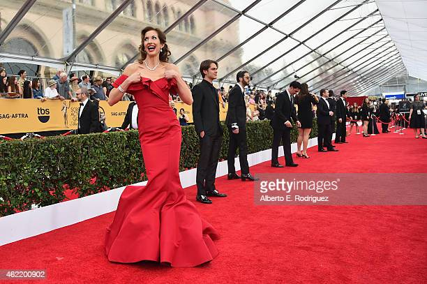 Actress Alysia Reiner attends the 21st Annual Screen Actors Guild Awards at The Shrine Auditorium on January 25 2015 in Los Angeles California