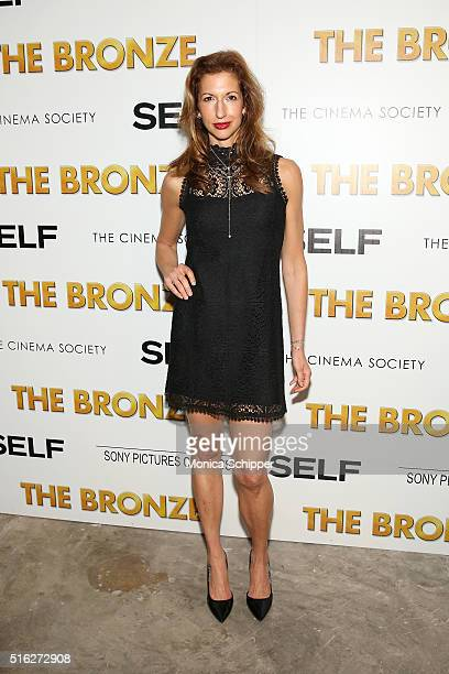 Actress Alysia Reiner attends The Cinema Society SELF host a screening of Sony Pictures Classics' The Bronze at Metrograph on March 17 2016 in New...