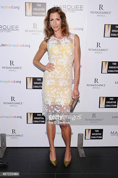 Actress Alysia Reiner attends the Creative Coalition's spotlight awards dinner gala at Marquee on October 14 2014 in New York City