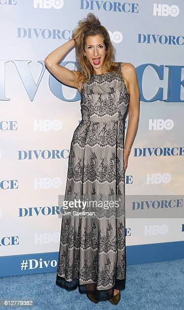 Actress Alysia Reiner attends the 'Divorce' New York premiere at SVA Theater on October 4 2016 in New York City