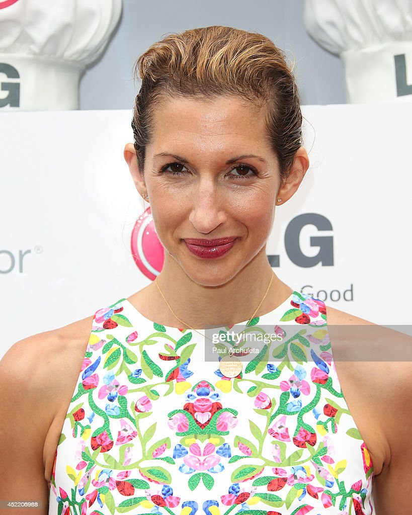 Actress Alysia Reiner attends the Junior Chef Academy event at The Washbow on July 15, 2014 in Culver City, California.