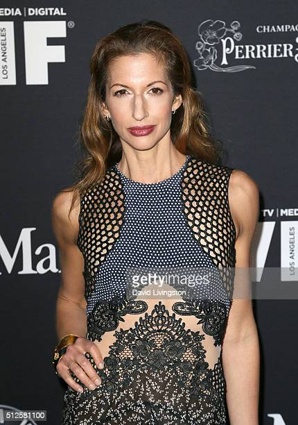 Actress Alysia Reiner attends the Ninth Annual Women In Film PreOscar Cocktail Party Presented By Max Mara BMW MAC Cosmetics And PerrierJouet at HYDE...