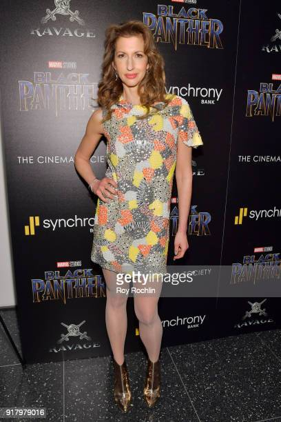 Actress Alysia Reiner attends the screening of Marvel Studios' 'Black Panther' hosted by The Cinema Society on February 13 2018 in New York City