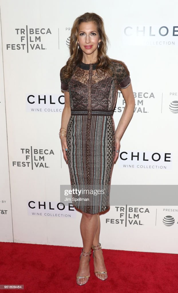 Actress Alysia Reiner attends the Tribeca awards ceremony during the 2018 Tribeca Film Festival at BMCC Tribeca PAC on April 26, 2018 in New York City.