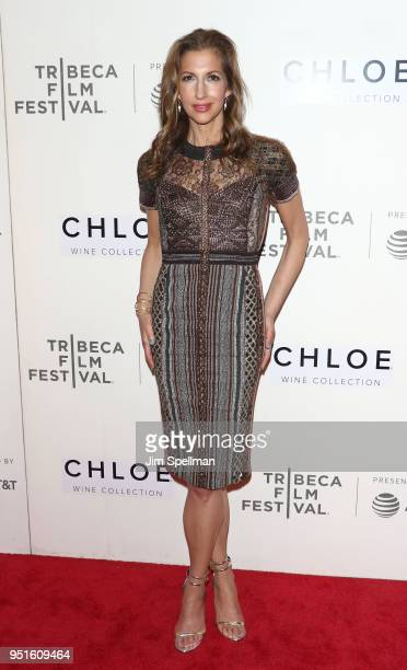 Actress Alysia Reiner attends the Tribeca awards ceremony during the 2018 Tribeca Film Festival at BMCC Tribeca PAC on April 26 2018 in New York City