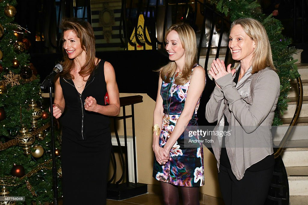 Actress Alysia Reiner, designer Suz Somersall and author Piper Kerman attend the 'Orange Is The New Black - My Year In Women's Prison' charity book shopping experience at Carlton Hotel on December 18, 2013 in New York City.