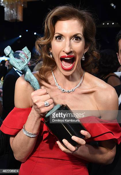 Actress Alysia Reiner in the audience at TNT's 21st Annual Screen Actors Guild Awards at The Shrine Auditorium on January 25 2015 in Los Angeles...